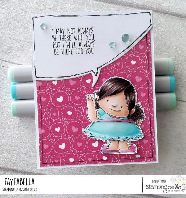 www.stampingbella.com: rubber stamp used : BIG IDEA SQUIDGY card by Faye Wynn Jones