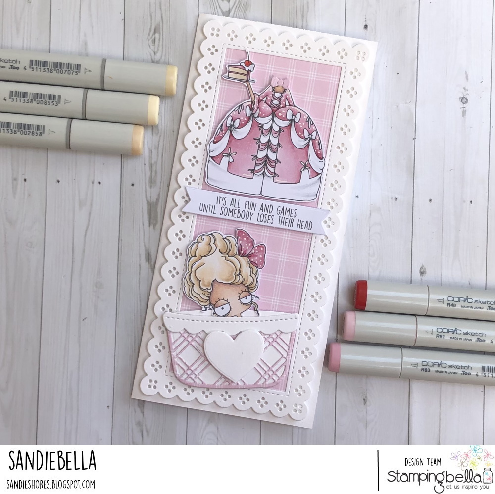 www.stampingbella.com: rubber stamp used : ODDBALL MARIE card by Sandie Dunne
