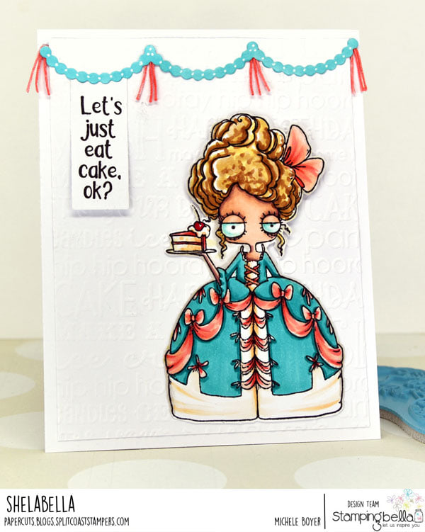 www.stampingbella.com: rubber stamp used : ODDBALL MARIE card by Michele Boyer