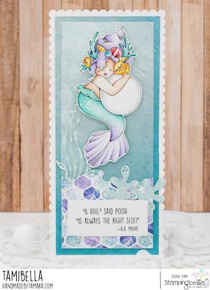 www.stampingbella.com: RUBBER STAMP USED: EDNA HUGGING A PEARL card by TAMARA POTOCNIK