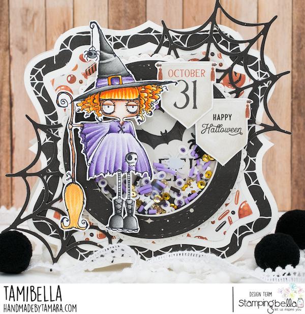 www.stampingbella.com. Rubber stamp used: ODDBALL WITCH. card by Tamara Potocnik