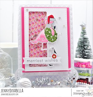 www.stampingbella.com: RUBBER STAMP USED: SANTAMINGOR card by Jenny Dix