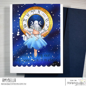 www.stampingbella.com: RUBBER STAMP USED: TINY TOWNIE ASTROLOGY CHART card by AMY YOUNG