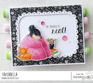 www.stampingbella.com: RUBBER STAMP USED: TINY TOWNIE LOVES to snuggle CARD BY Faye Wynn Jones