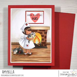 www.stampingbella.com: RUBBER STAMP USED: TINY TOWNIE NURSE CARD BY AMY YOUNG