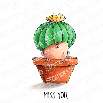 CACTUS BABY Rubber Stamp