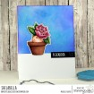 PEONY BABY IN A POT RUBBER STAMP