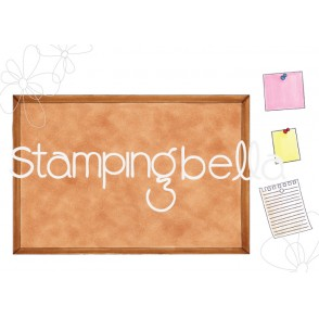 CORKBOARD BACKDROP rubber stamp