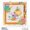 BUNDLE GIRL at the PUMPKIN PATCH rubber stamp