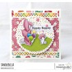 BUNDLE GIRL BUNNY RUBBER STAMP