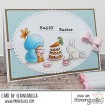 BUNDLE GIRL TEA PARTY RUBBER STAMP