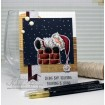 Santa is STUCK (includes 2 rubber stamps)