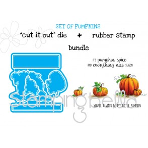 "set of PUMPKINS ""CUT IT OUT DIES"" + RUBBER STAMP BUNDLE (save 15%)"