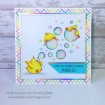 BUBBLE chicks cling mounted RUBBER STAMP SET