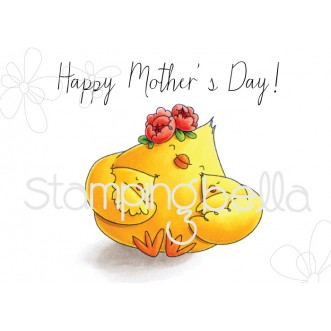 MOTHER'S DAY CHICK rubber stamp (set of 2 rubber stamps)