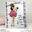 "CURVY GIRL WITH A COCKTAIL RUBBER STAMP + ""CUT IT OUT"" DIE BUNDLE (SAVE 15%)"