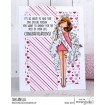 CURVY GIRL BACHELORETTE RUBBER STAMP