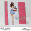 CURVY GIRL EATS CAKE RUBBER STAMP