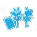 "Tiny Townie FAIRY BEST FRIENDS ""CUT IT OUT"" WAFER THIN DIES (set of 3 dies)"