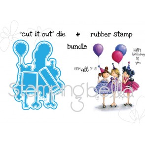 "Tiny Townie BIRTHDAY PARTY ""CUT IT OUT"" die AND STAMP BUNDLE"