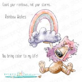 RAINBOW DANDY rubber stamp