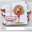 DANDYLION LOVES YOU rubber stamp