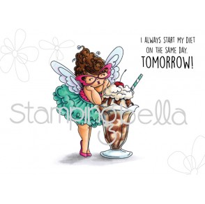 EDNA loves ICE CREAM RUBBER STAMP (set of 2)