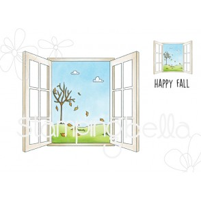 FALL WINDOW RUBBER STAMPS