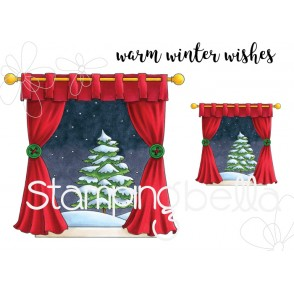 WINTER WINDOW RUBBER STAMPS