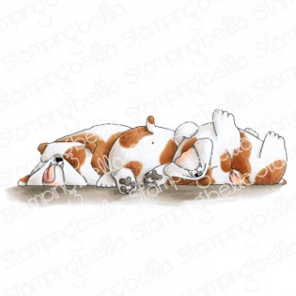 BULLY TRIO rubber stamp