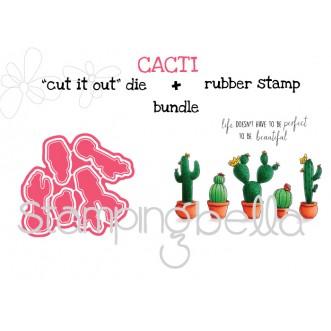 "CACTI RUBBER STAMPS + ""CUT IT OUT"" DIES BUNDLE (save 15%)"