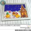 GINGERBREAD chicks (set of 4 RUBBER STAMPS)