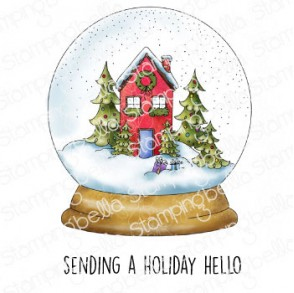 HOLIDAY SNOWGLOBE rubber stamp