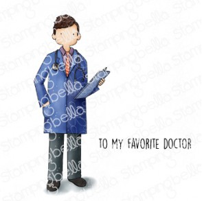 MY FAVORITE DOCTOR rubber stamp