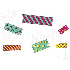 WASHI TAPE set rubber stamp