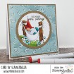 THE GNOME IN THE HAMMOCK RUBBER STAMP