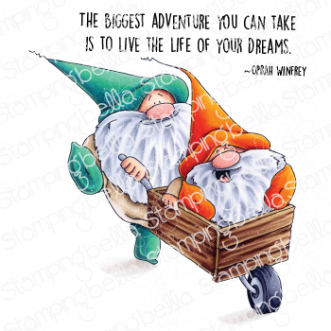 ADVENTURE GNOMES RUBBER STAMP
