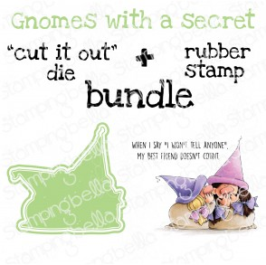 "GNOMES WITH A SECRET RUBBER STAMP + ""CUT IT OUT"" DIE BUNDLE (SAVE 15%)"