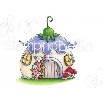 LITTLE BITS FAIRY HOUSE RUBBER STAMP