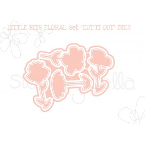 "LITTLE BITS FLORAL SET ""CUT IT OUT"" DIES"