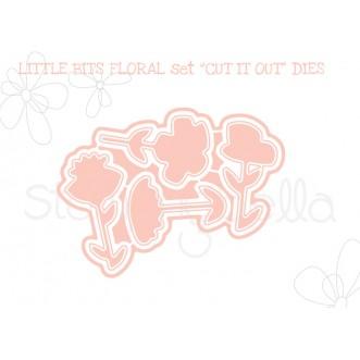 """LITTLE BITS FLORAL SET """"CUT IT OUT"""" DIES"""