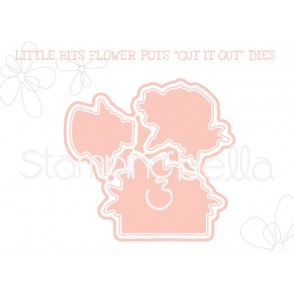 "LITTLE BITS FLOWER POTS ""CUT IT OUT"" DIES"