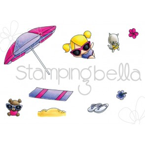 LITTLE BITS  UMBRELLA SET (Set of 9 CLING MOUNTED RUBBER STAMPS)