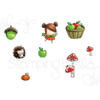 LITTLE BITS FALL FRUIT COLLECTION rubber stamps