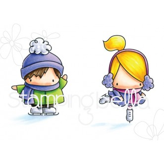 LITTLE BITS FIGURE SKATERS rubber stamps
