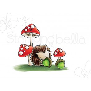 THE LITTLES HEDGIE and his ACORNS rubber stamp