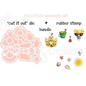 """LITTLE BITS  SANDCASTLE SET """"CUT IT OUT"""" DIES + RUBBER STAMP BUNDLE (save 15%)"""