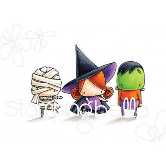 THE LITTLES FRANKIE WITCHY and MUMMY rubber stamp (1 stamp)