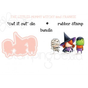 """THE LITTLES FRANKIE WITCHY and MUMMY RUBBER STAMP + """"CUT IT OUT"""" BUNDLE (save 15%)"""