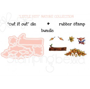 "LITTLE BITS NATURE COLLECTION RUBBER STAMPS + CUT IT OUT"" DIES BUNDLE (save 15%)"